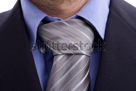 Pak stropdas detail vrouw kantoor mode Stockfoto © hsfelix