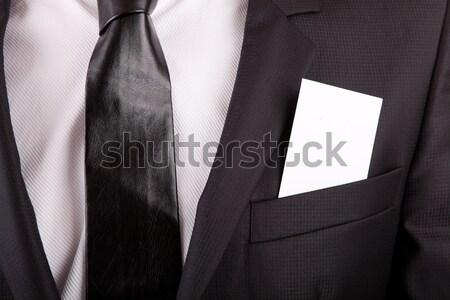 Visitekaartje suits zak detail man zakenman Stockfoto © hsfelix
