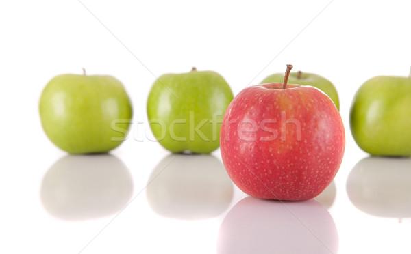 Elma kırmızı elma yeşil elma kalabalık sağlık Stok fotoğraf © hsfelix