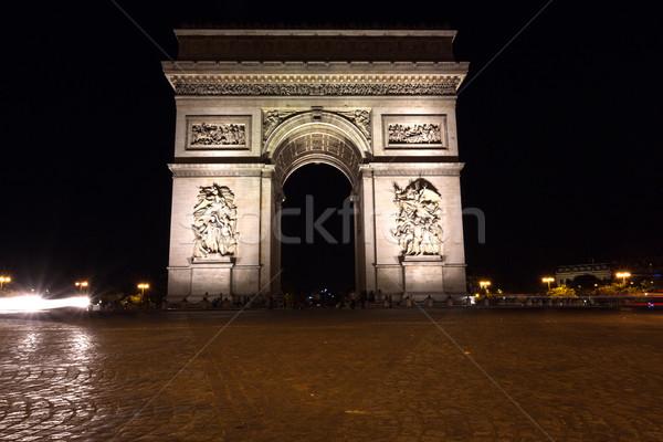 Beroemd Arc de Triomphe Parijs Frankrijk zomer 2016 Stockfoto © hsfelix