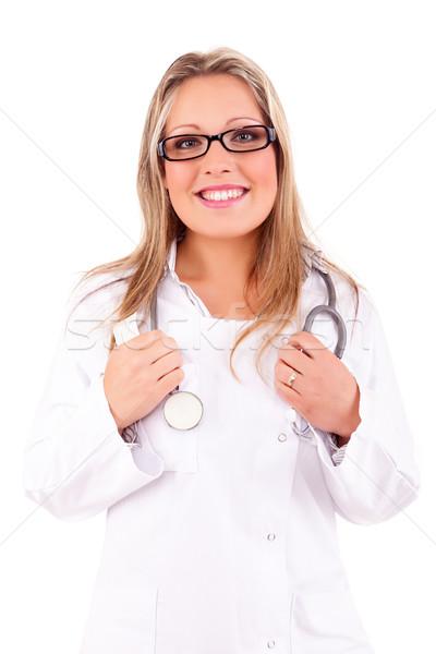 Medic młodych stwarzające lekarza zdrowia muzyka Zdjęcia stock © hsfelix