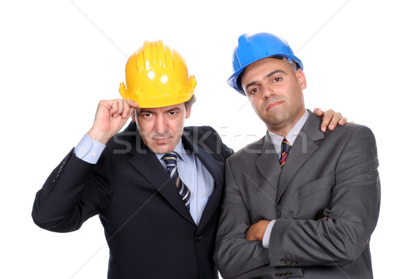 Two young businessmen posing Stock photo © hsfelix