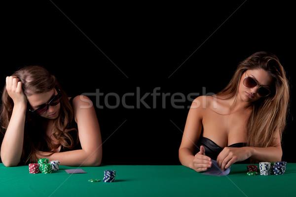 Women playing poker Stock photo © hsfelix