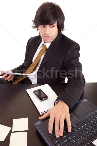 Young business man at work Stock photo © hsfelix