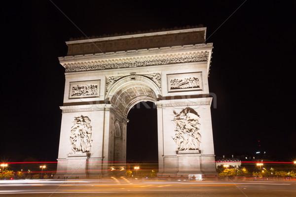 известный Триумфальная арка Париж Франция лет 2016 Сток-фото © hsfelix