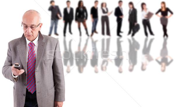 Maturité homme d'affaires posant personnes affaires homme Photo stock © hsfelix
