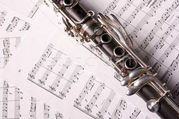Fénykép izolált kotta zene oktatás fekete Stock fotó © hsfelix