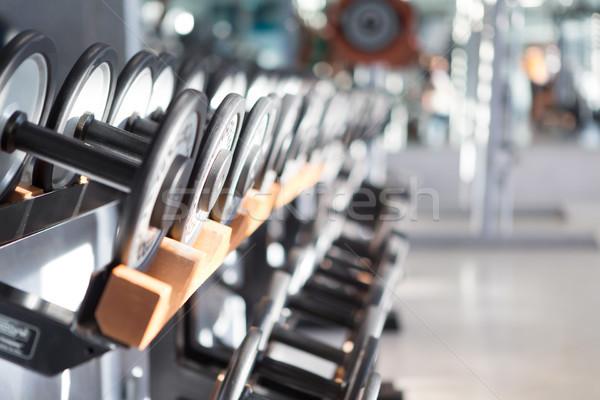 Néma felfelé fitnessz stúdió kép rövid Stock fotó © hsfelix