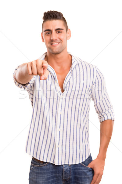 Man pointing Stock photo © hsfelix