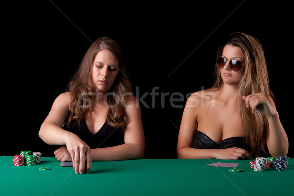 Women playing poker Stock photo © hsfelix