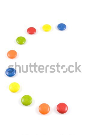 Letter C made of colored chocolates Stock photo © hsfelix