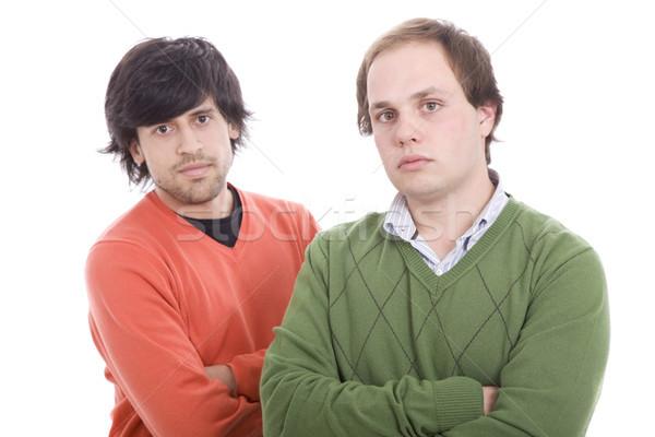2 カジュアル 男性 ポーズ 孤立した 白 ストックフォト © hsfelix
