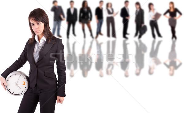 деловой женщины позируют люди улыбка модель красоту Сток-фото © hsfelix