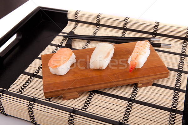 Szusi darabok izolált fehér étel tenger Stock fotó © hsfelix