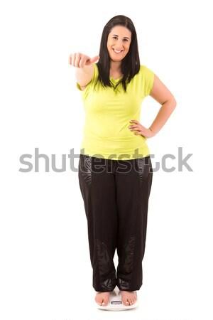 Diéta nagy nő boldog eredmények új Stock fotó © hsfelix