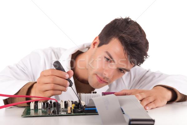 Stock photo: Computer engineer