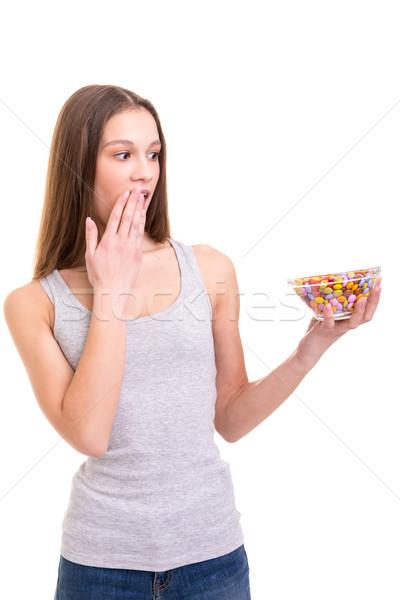 Liefde jonge vrouw boeg kleurrijk Stockfoto © hsfelix