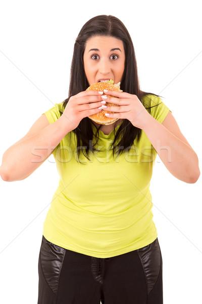 Diyet güzel büyük kadın değil iştah açıcı Stok fotoğraf © hsfelix