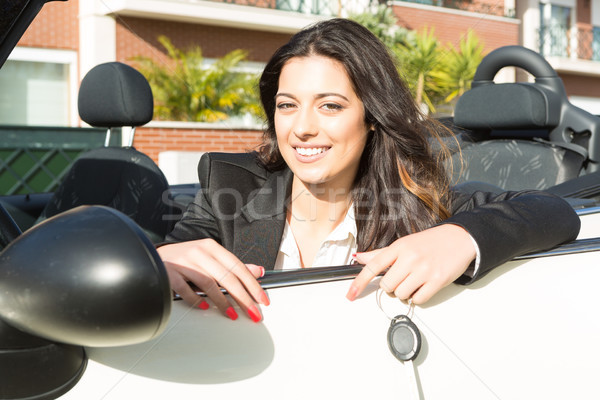 Business woman in sports car Stock photo © hsfelix