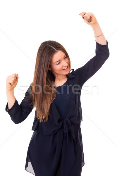 Stock photo: Yeah! Sooo happy!