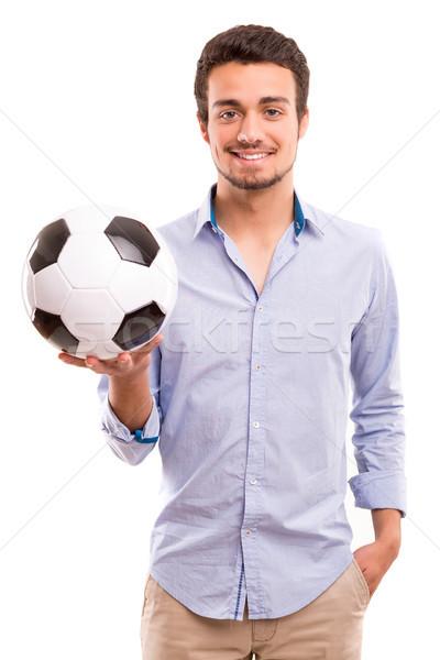 監督 スタジオ 画像 ハンサム 小さな サッカー ストックフォト © hsfelix