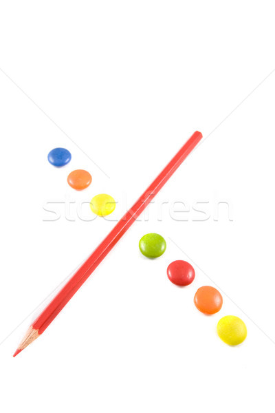 Letter X made of colored chocolates Stock photo © hsfelix