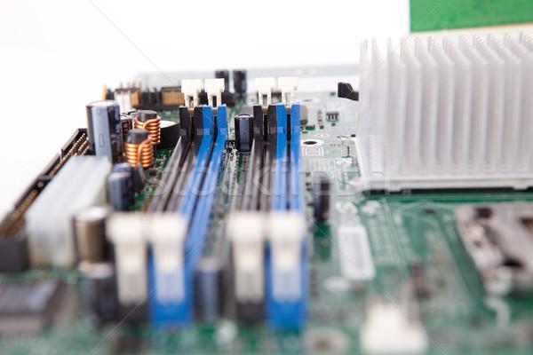 Moederbord sluiten shot oude computer business Stockfoto © hsfelix