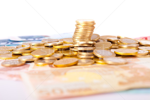 Geld merkt munten business financieren Stockfoto © hsfelix