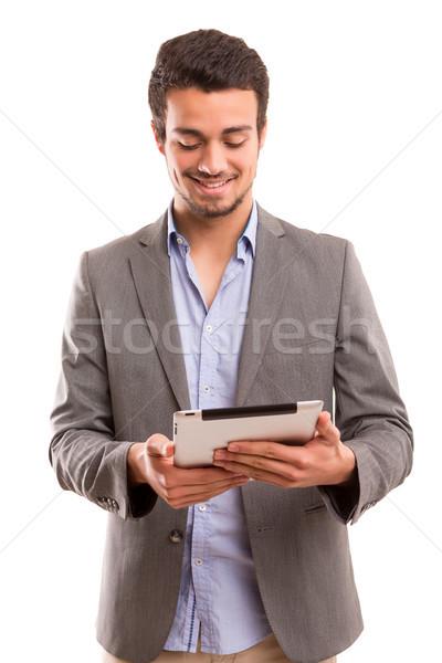 男 作業 小さな ハンサムな男 ビジネス ストックフォト © hsfelix
