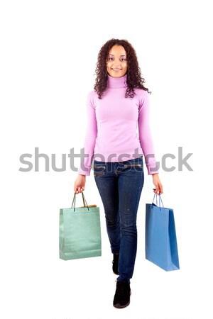 女性 小さな 美人 ショッピングバッグ 幸せ 美 ストックフォト © hsfelix