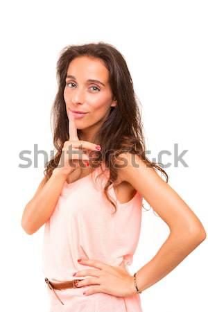 女性 沈黙 美人 指 口 ストックフォト © hsfelix