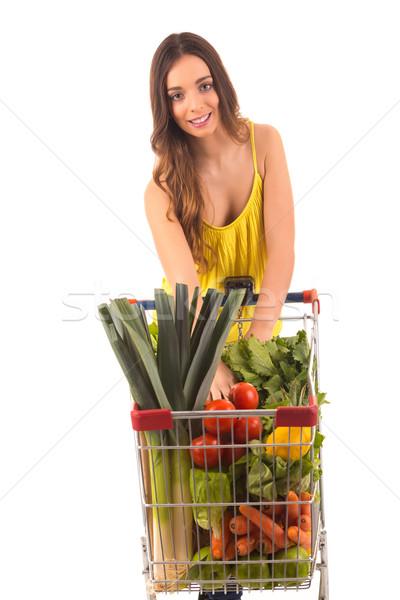 Nő gyönyörű fiatal nő vásárlás áruház lány Stock fotó © hsfelix