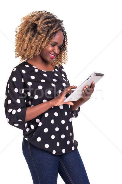 App nice tineri african femeie Imagine de stoc © hsfelix