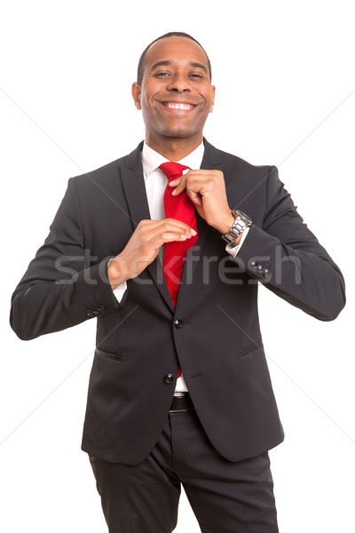 ビジネスマン ネクタイ アフリカ ファッション 作業 ストックフォト © hsfelix