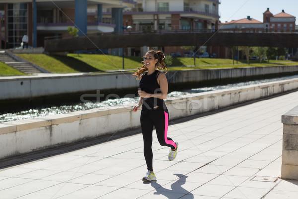 フィットネス 美しい 若い女性 行使 公園 ストックフォト © hsfelix