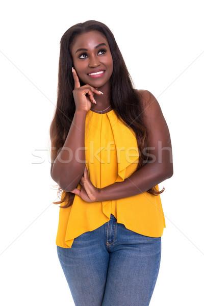 私に と思います 小さな ビジネス アフリカ 女性 ストックフォト © hsfelix