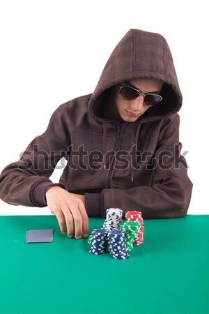 Woman playing poker Stock photo © hsfelix