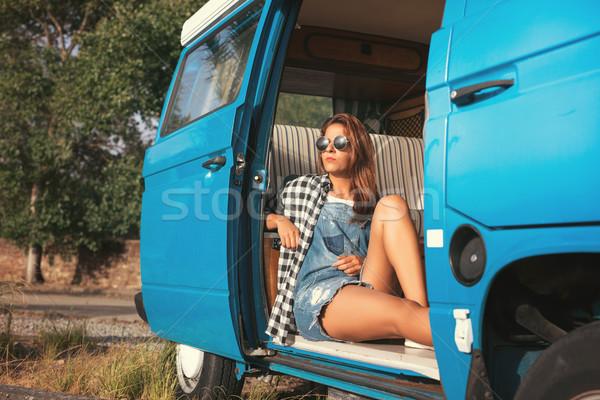 Yaz tatil yol yolculuk seyahat insanlar Stok fotoğraf © hsfelix
