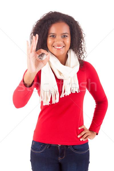 Happy woman Stock photo © hsfelix