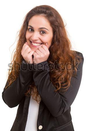 沈黙 美しい 若い女性 孤立した 顔 ストックフォト © hsfelix