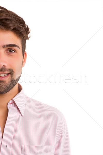 Knappe man studio foto jonge poseren geïsoleerd Stockfoto © hsfelix