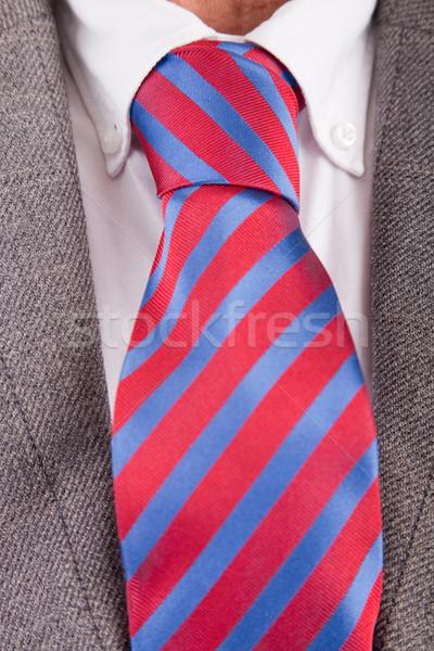 Traje empate detalle oficina hombre moda Foto stock © hsfelix
