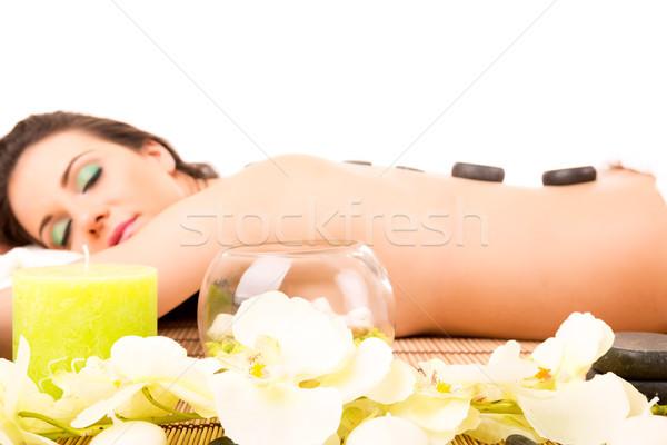 Femme spa jeunes belle femme détente bien-être Photo stock © hsfelix