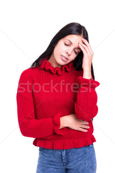 нет не сильный головная боль изолированный Сток-фото © hsfelix