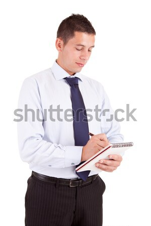 Engineer taking notes Stock photo © hsfelix
