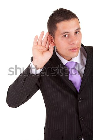 Business man trying to hear Stock photo © hsfelix