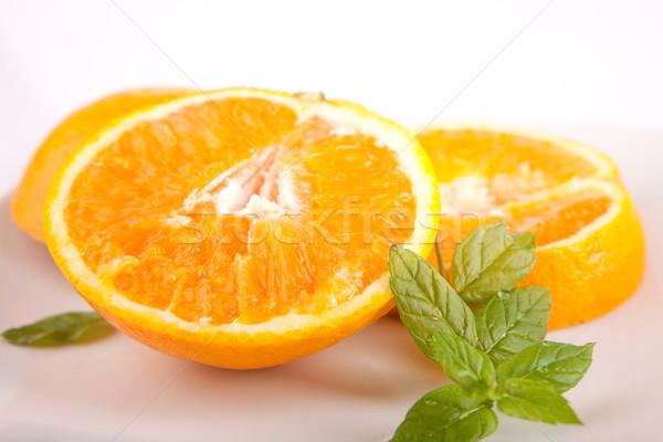Fraîches orange isolé blanche alimentaire nature Photo stock © hsfelix