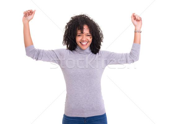 да счастливым африканских женщину Сток-фото © hsfelix