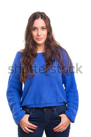 красивой молодые случайный женщину позируют Сток-фото © hsfelix