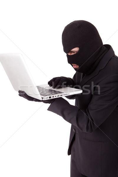 Hacker computer internet laptop veiligheid zakenman Stockfoto © hsfelix